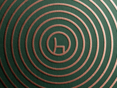 Tree Ring Pattern for Chair-makers Visual Identity chairmaker wood chair tree ring visual identity pattern branding symbol
