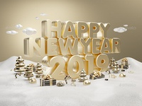 Happy New Year 2019 Gold