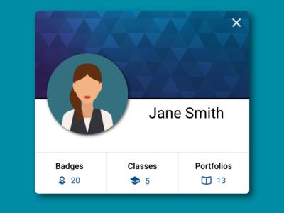 Student Profile Card