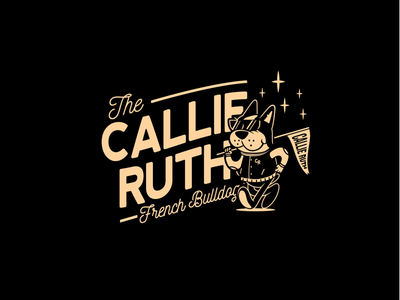 Callie Ruth - Cartoon Logo illustrator characterdesign cartooncharacter varsity frenchbulldoglogo frenchbulldog toon vector vectors illustration branding brand toonlogo cartoonlogo