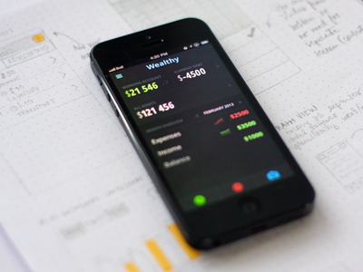 Finance tracking app [wip] app finance tracking ios iteration visual design iphone sketches