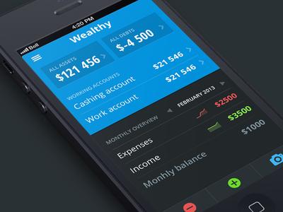 Dashboard [wip] iphone ios app design visual finance iteration