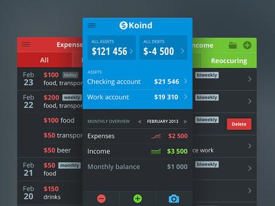 Finance tracking app [wip] iphone ios app design visual finance iteration flat