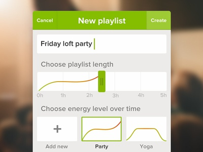 Energy playlist [concept]