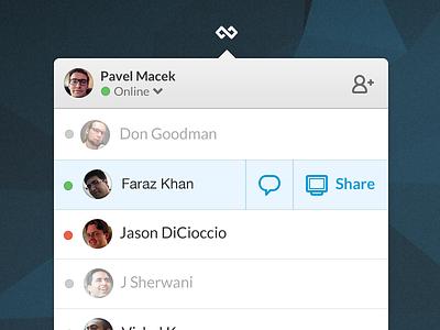 Screenhero for Mac moves to status bar mac desktop messenger screen sharing status bar os x