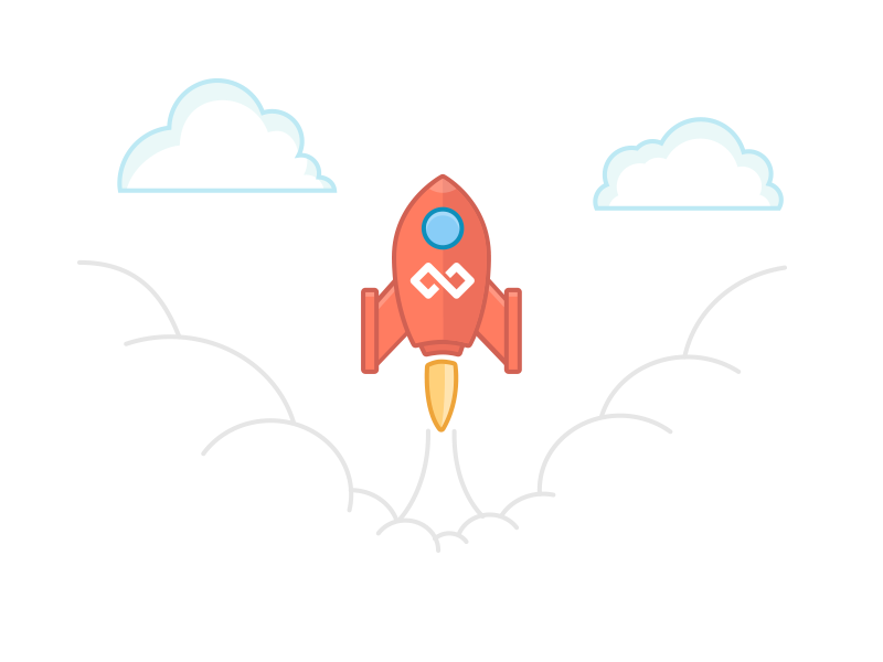 Launch illustration illustration lines drawing