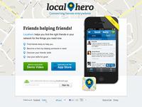 Local Hero Landing Page