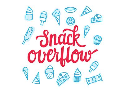 Snack Overflow illustration illustration lettering