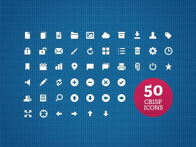Web UI Icons on Webdesigntuts+ web app ui icons simple glyph scalable