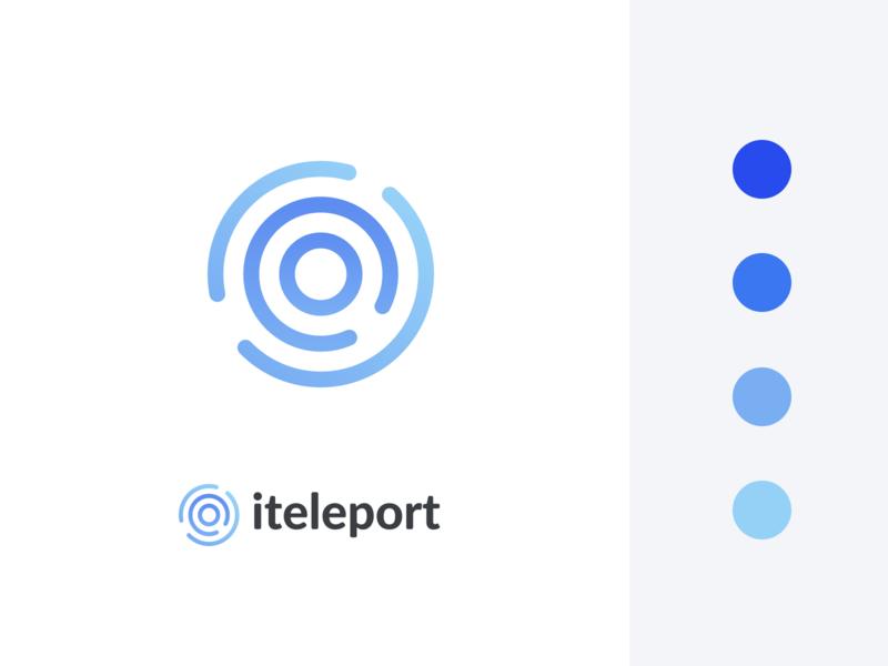 iteleport rebrand redesign blue logo design branding brand logo