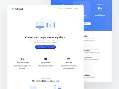 iteleport marketing website marketing webdesign website branding design illustration blue