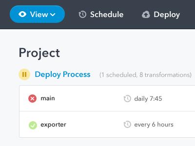 Work Project ui design simple concept web interface app exploration buttons colors list navigation