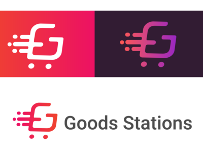 Goods stations logo concept