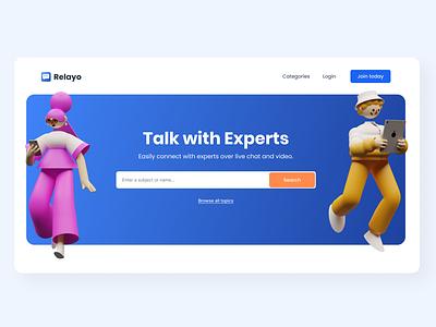 Homepage introduction idea for Relayo branding web development website builder homepagedesign website homepage