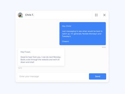 Mega Quick Chat UI chat web design ui design website