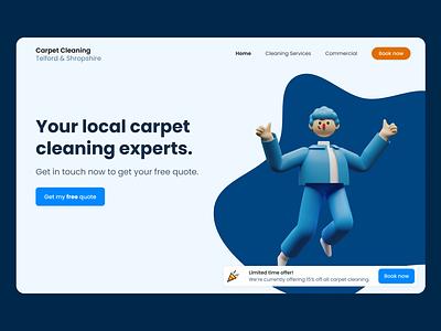 Homepage Intro - Carpet Cleaning web design homepage ui design website