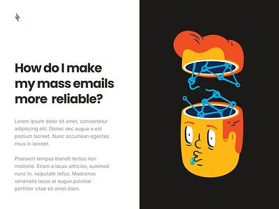 Quick Document Idea icon illustration typography document design