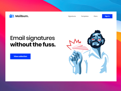 Mailbum refresh product typography ui web design email signature email templates logo design branding webdesign mail producthunt