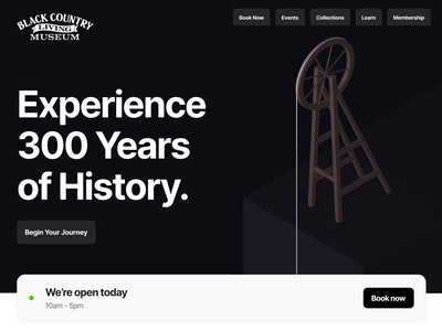 Local Museum Concept web design website landing homepage typography animation design 3d animation museum