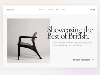 Storefront Demo product ecommerce store gradient typography homepage design website
