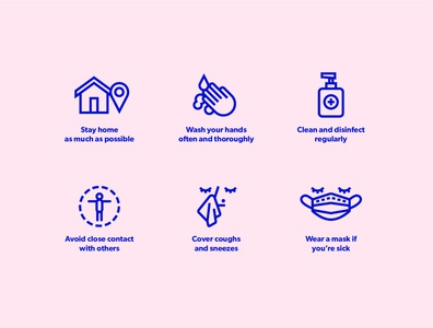 Health and Safety Icons for covid-19