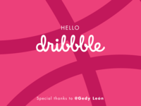 Thanks Dribbble !