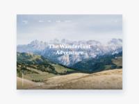 The Wanderlust - Daily Ui 03
