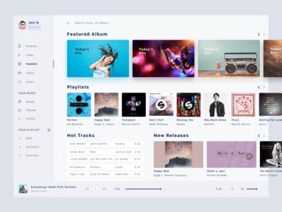 Challenger UI - Music webdesign