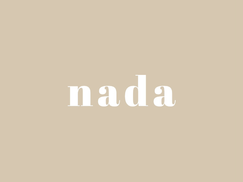 Nada - Zero waste webdesign website illustrator illustration ux ui typography type design logo branding