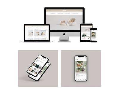 Nada - Zero waste webdesign web illustrator illustration ui ux typography type design logo branding
