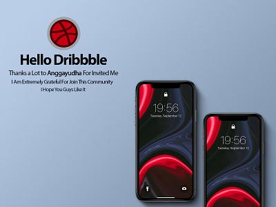 Hello Dribbble ! modern marble abstract neon red fluid app design hireme branding iphonex wallpaper background liquid hello dribble dribbble firstshot
