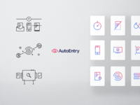 Accounting software icon set