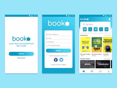 Booko - Rent book easily mobile user experience application ux design ux user inteface ui design ui design app