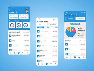 Uang Kita - Money Management App user experience mobile application ux design ux user inteface ui design ui design app