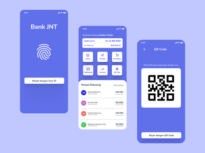Bank JNT - Mobile Banking App banking app banking user experience mobile application ux design ux user inteface ui design ui design app
