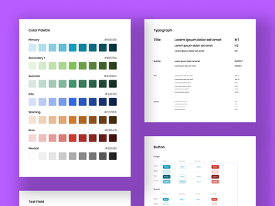 Design system for mobile apps button style text style color style design system app minimal ux design ui