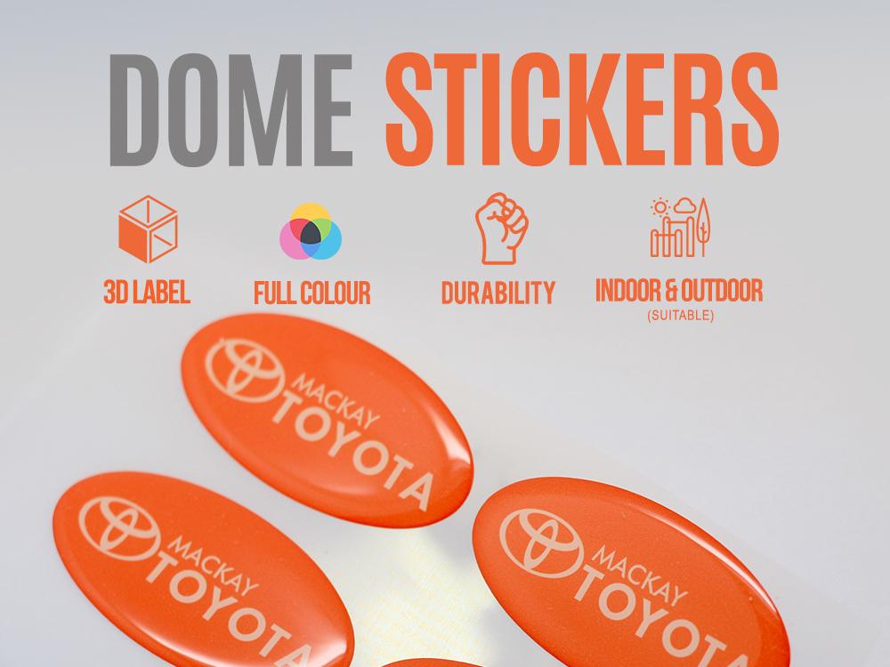 Dome Sg sticker design branding