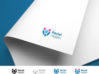 Raziel Health Logo Design branding and identity healthcare logodesign