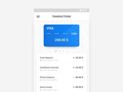 Mobile wallet concept design material android app mobile ux ui