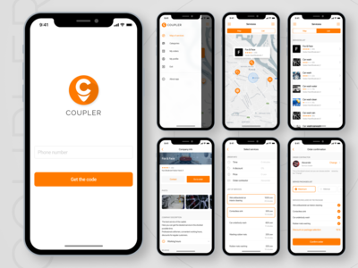 Coupler client IOS app (part II) figma search app map app map ui design app design ios app