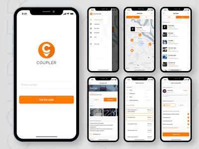 Coupler client IOS app (part II) figma search app map app map ui design app design ios app