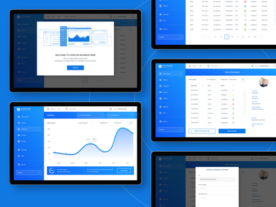 Coupler Business Web app (beta) ux figma dashboard ui web app ux design ui design management system management app desktop ui business dashboard analitycs