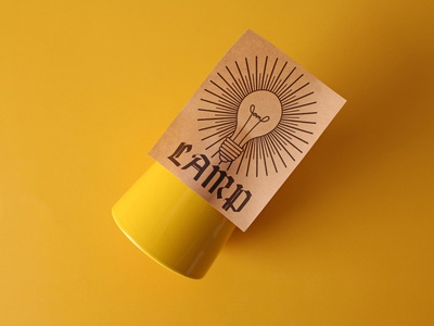 lamp kraft paper stickers customstickers stickers design branding