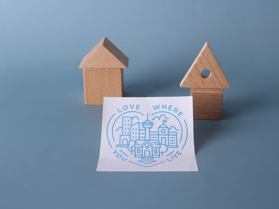 love where you live custom stickers customstickers design stickers branding
