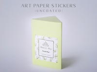 Art Paper Stickers Uncoated