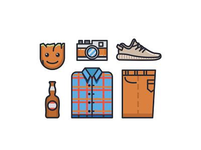 Man Stuff camera beer groot dribbble freepik illustration app vector ux ui logo icon design