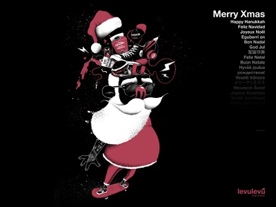 Merry Xmas from Levulevú papa noel kombucha converse tattoo merry xmas merry christmas illustration 2018 projects design crazy skater santa santa claus
