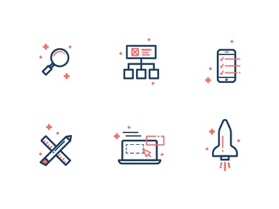 UX Icons usability prototyping visual design user testing wireframes research ux vector icon