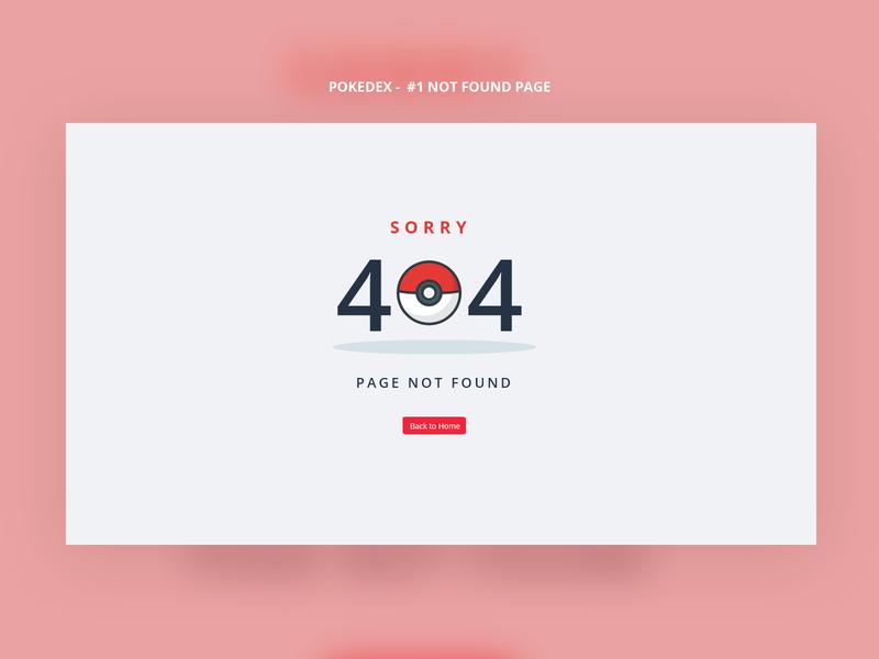 Pokedex - 404 Page not found game web design pokeball pokedex pokemon 404