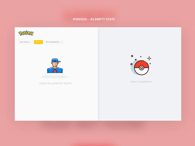 Pokedex - Empty State empty game web design pokemon pokedex empty state